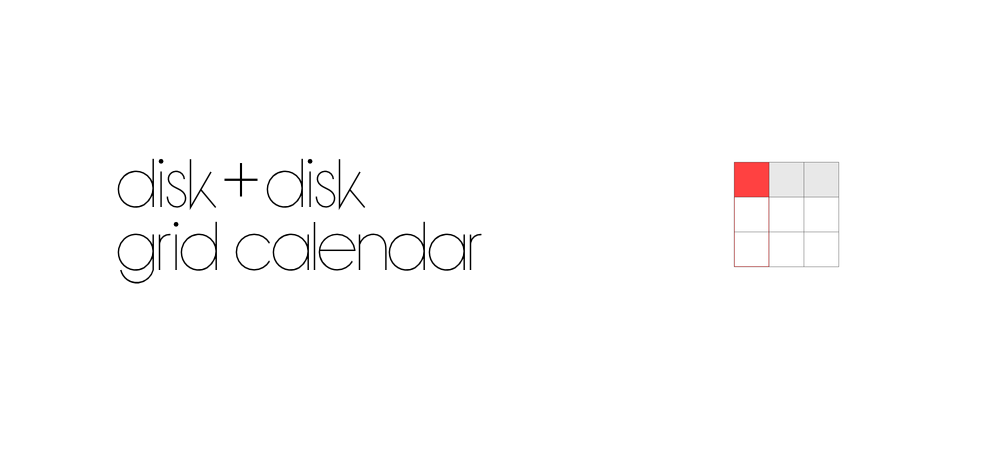 grid calendarを試す/disk