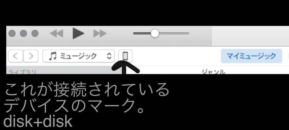 iPodの音源をMacBookで鳴らす2/disk